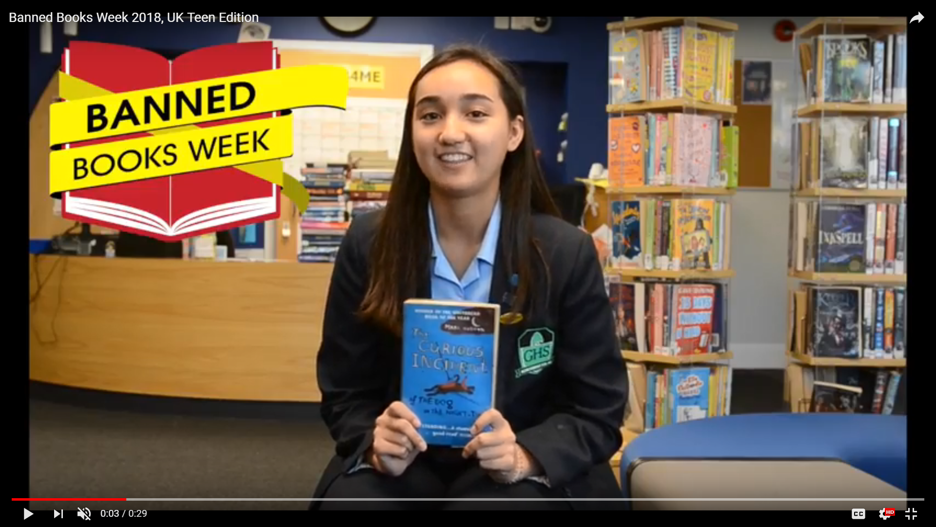 Watch: Banned Books Week 2018, UK Teen Edition
